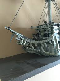 Lego Ship Sinking 3 by Lego Potc Flying Dutchman Pirate Ship Lego Ships Pinterest