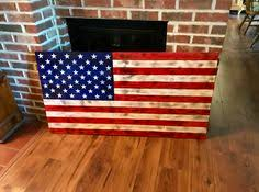 Rustic American Flag Wooden Wall Art Weathered Old Glory
