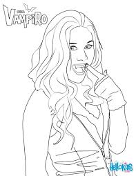 Daisy OBrian Coloring Page From Chica Vampiro TV Series More Chica