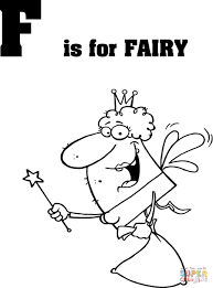 Click The Letter F Is For Fairy Coloring Pages