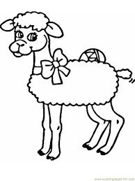 Coloring Pages Spring Lamb Mammals Sheeps