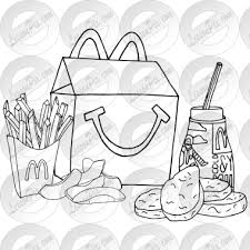 Collection Of Black And White High Mcdonalds Clipart Outline