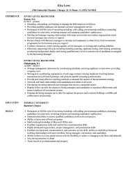 Recruiter Resume Templates Example And Free Template