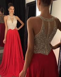 crystals prom dresses red prom dress elegant prom dress
