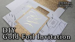 DIY Gold Foil Belly Band Wedding Invitations