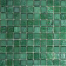 green ceramic mosaic wall tile jade look glass mosaic