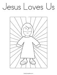 God Loves You Coloring Printable Page Dessincoloriage Jesus Me Pages