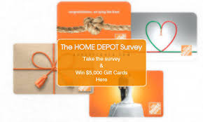 ☹ HOME DEPOT SURVEY Sweepstakes WIN $5 000 Home Depot t card
