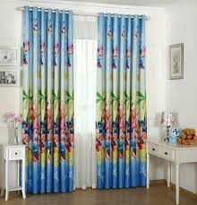 small pure and fresh and full shading printing curtains lovely