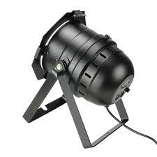 Short Black LED PAR64 Floor Parcan DMX Auto Sound to Light