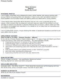 Primary Teacher Resume Nsw