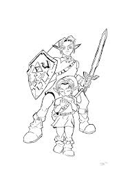 13 Pics Of Link Ocarina Time Coloring Pages
