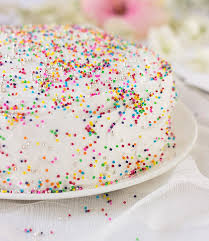Sprinkle Birthday Cake with Whipped Cream — Lemon in Ginger