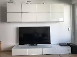 ikea wohnzimmer schrank wohnwand sideboard weiß hochhlanz