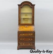 Henredon China Cabinet Ebay by Vintage Jasper Narrow Faux Bamboo Oriental Secretary Desk Bookcase