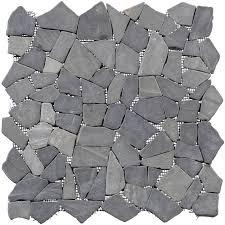 bruchmosaikmatte schwarz braun 30 5 cm x 30 5 cm