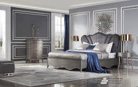 italienisches designer schlafzimmer bett 2x nachttische kommode 4tlg set neu