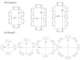 Dining Room Table Dimensions Sizes