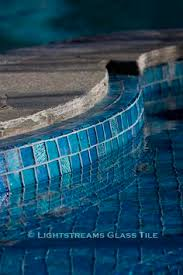 Npt Pool Tile Palm Desert by National Pool Tile Jules 1x1 Glass Series Pool Tile Rustic Blue