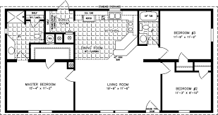 Fleetwood Triple Wide Mobile Home Floor Plans by Three Bedroom Mobile Homes L 3 Bedroom Floor Plans