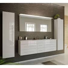 badezimmer spiegelschrank 140cm newland 02 inkl led acrylle leuchtboden hochglanz weiß b h t 140 63 5 17 22 cm