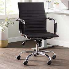Wayfair Basics High-Back Desk Chair & Reviews | Wayfair Odessa High Back Executive Chair Adjustable Armrests Chrome Base Amazonbasics Black Review Youtube Back Chairleatherette Home Fniture On Carousell Shop Bodybilt 272508 Cosset Highback By Sertapedic Srj48965 Der300t1blk Derby Faux Leather Office 121 Jersey Faced Armchair Cheap Boss Transitional Highback Walmartcom Amazoncom Essentials Fabchair Ayrus With Ribbed Cushion Edge High Meshback Executive Chair With Lumbar Support Ofx Office