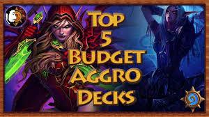 Hearthstone Beginner Decks 2017 hearthstone top 5 budget aggressive decks for beginners youtube