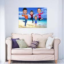 karikatur deinem foto familienportrait