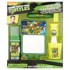 Ninja Turtle Themed Bathroom by Nickelodeon Teenage Mutant Ninja Turtles Bath Time Play Shave Set