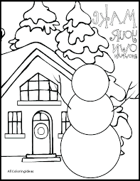 Winter Printable Coloring Pages Activities Free Holiday