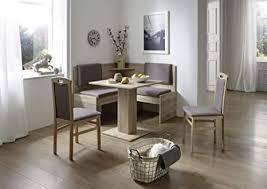 scouts eckbankgruppe milua sonoma eiche dekor komplettset grau braun set 4teilig säulentisch truheneckbank stühle küche esszimmer