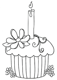 Free Birthday Cake Coloring Pages To Print Page Decorating Online Cupcake
