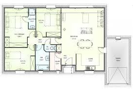 plan de maison de plain pied 3 chambres plan maison neuve gratuit de traditionnelle plain pied 3