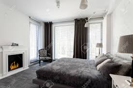100 White House Master Bedroom And Grey With Fireplace Large Windows And