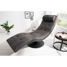 dunord design relaxliege grau wohnzimmer chaiselounge liege