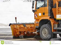 100 Truck Snowblower Snow Blower Ready To Work Winter Time Snowing Stock Photo