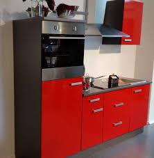 einbauküche mankacerise 9 kirsche hochglanz onyxgrau küchenzeile 240 cm ohne e geräte