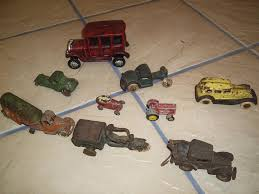 100 Trucks And Toys Lot Of Vintage Smaller Cast Iron And From The 1920s And
