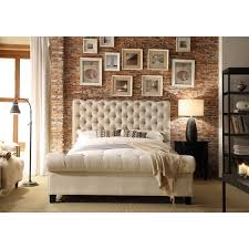 Moser Bay Furniture Calia Beige Tufted Upholstery Bed Free