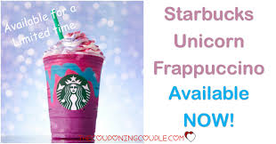 Starbucks Unicorn Frappuccino Available NOW
