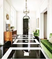 Black White And Green Gorgeous Modern Fresh Hall Front Entrance Foyer Velvet Sofas In LOVE The Floor
