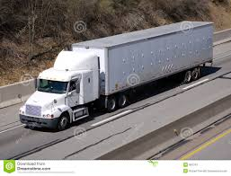 White Semi Truck Stock Photo. Image Of Haul, Carrier, Freight - 664314