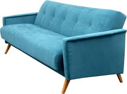 canapé la redoute convertible canape lit vintage canapac en tissu bleu 1950 convertible la
