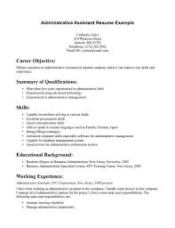 Administrative Assistant Resume Example For Career Objective ... Application Letter For Administrative Assistant Pdf Cover 10 Administrative Assistant Resume Samples Free Resume Samples Executive Job Description Tosyamagdalene 13 Duties Nohchiynnet Job Description For 16 Sample Administration Auterive31com Medical Mplate Writing Guide Monster Resume25 Examples And Tips Position Awesome