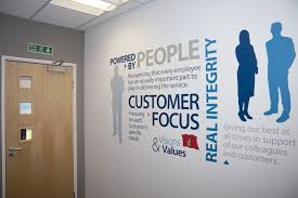 Corporate Values Office Wall Word Cluster Vinyl Foil