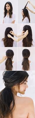 Messy Half Up Hairstyle Tutorial