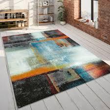 wohnzimmer teppich kurzflor teppich mit abstraktem muster farbverlauf in bunt