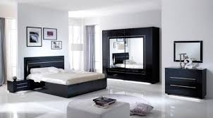 meuble de rangement chambre à coucher lit avec coffre de rangement city laque noir chambre à coucher
