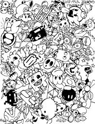 Downloads Online Coloring Page Doodle Pages 54 In Picture With