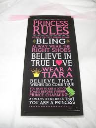 Black Princess Rules Dreams Come True Wooden Wall Art Sign Girls Bedroom Decor On Etsy